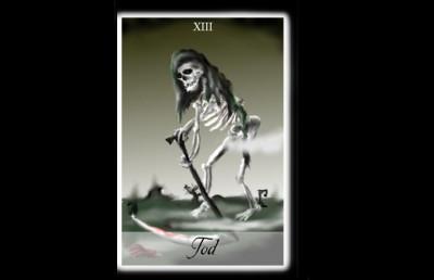 Der Tod oder Sarg beim Kartenlegen
